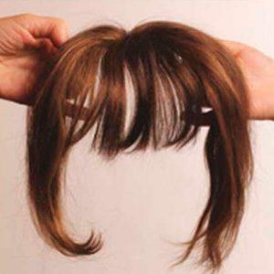 Flequillo cabello natural